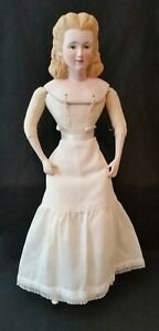 "Vintage Bisque Porcelain ""Abigail Adams"" 18-1/2"" Doll Ready-to-Dress"