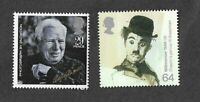 Charlie Chaplin-Actor-Comedian-Cinema-Great Britain 2 stamps mnh
