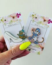 Disney Pastel Fantasy Enamel Pin Flower Rescuers Gus Cinderella Rose Gold