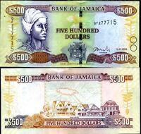 JAMAICA 500 DOLLARS 2008 P 85 UNC