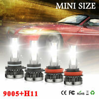 Mini 9005 H11 LED Headlight Hi/lo Beam Bulbs for Chevy Silverado 1500 2008 2009