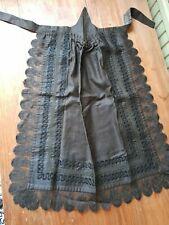 Victorian mourning apron black lace antique vintage goth emo excellent condition