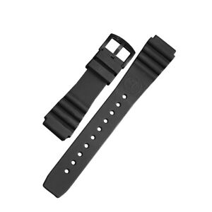 Silikon-Uhrenarmband Taucher schwarz   20mm mit BOMBFROG Logo