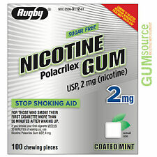 Rugby Nicotine Gum 2mg Coated Mint  1 box 100 pieces