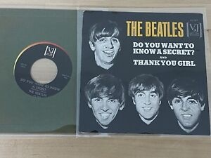 Beatles Original 1964 Want Know Secret Vee Jay Records Picture Sleeve NM w/45