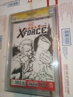 Cable And X-force 1 Blank With Original Sketch of Cable By Shelby Robertson 9.8