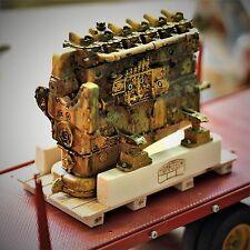 tamiya,wedico,Verrosteter Meer Dieselmotor Gelb 1:14,516 für Truck Piombotech