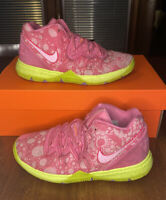 Nike Kyrie 5 SpongeBob Patrick Star Pink Shoes PS Youth CN4501-600 Size 2.5Y