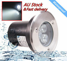 3W LED Waterproof Outdoor In Ground Garden Path Flood Landscape Light Cool White