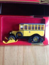 MATCHBOX MODELS OF YESTERYEAR Y16 1923 SCANIA - VABIS POST BUS WITH SKIS ETC