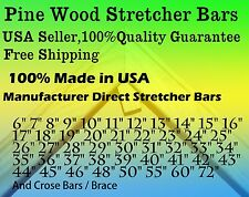 "Single Canvas Stretcher Bar, Stretching Strip 6-72"" Heavy Duty, Easy Assemble"