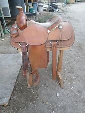 "CRATES SADDLE Mike Beers Roper, calf roping tree, 15.5""   HALF PRICE"