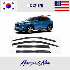 SMOKED DOOR WINDOW VENT VISOR SUN DEFLECTOR fits for HYUNDAI TUCSON 2016-2018