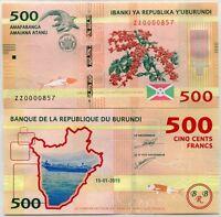 UNC 2019 New Signature P-New Burundi 500 Francs 2018