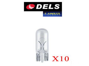 10 BOMBILLAS DELS AMOLUX W5W T10 LAMPARAS W2,1x9,5d 12V 5W COCHE MOTO NORMAL