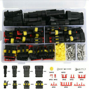 352pcs Connectors Waterproof Car Electrical Wire Connector Plug 1/2/3/4 Pin Sets