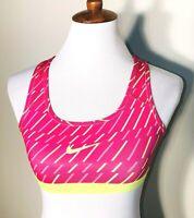 Nike Dri-Fit Women's Pink and Neon Yellow Sports Bra - Size XSmall - New w/ Tags
