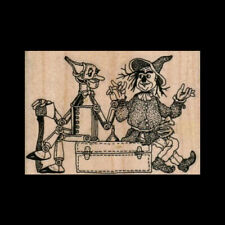 WIZARD OF OZ Rubber Stamp Tin Man and Scarecrow Rubber Stamp Tin Woodman NEW