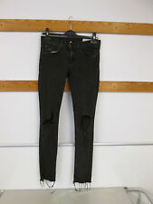 Rag & Bone Skinny Jeans (size 26) Rock Black With Holes