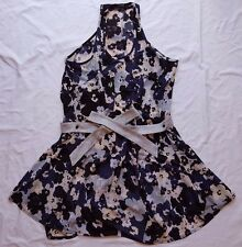 AS NEW Life with Bird Size 2 10 Dress Print Belt Blouson Floral Mini Sleeveless