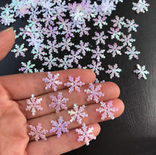 300Pcs Holiday Party Home Decor Christmas Classic Shiny Snowflake Ornaments Tree