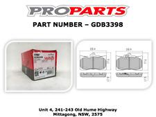 LEXUS GS300 2005-2012 3.0 LTR FRONT BRAKE PADS - GDB3398