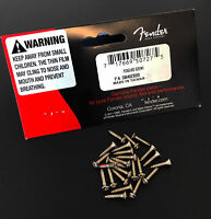 Genuine Fender CHROME Guitar Pickguard Mounting Screws - Package of 24
