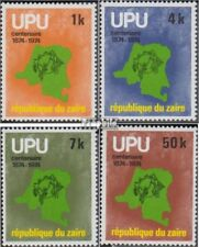 zaïre zaïrois 532-535 (complète edition) neuf avec gomme originale 1977 UPU