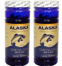 2X Bottles Alaska Deep Sea Fish Oil Omega-3,6,9, EPA/DHA Flaxseed Oil 100 Gels