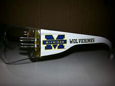 NCAA Michigan Wolverines safety glasses PICK LENS AT CHECKOUT SEE PHOTO OPTIONS