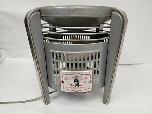 Vintage Mid Century Modern Art Deco Dayton Hassock Floor Fan 4 Way 3 Speed, Read
