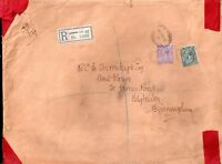 GB KGV 1915 3d & 4d on large London EC Registered cover WS7281