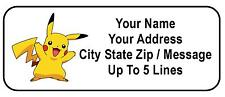30 Pikachu Personalized Address Labels