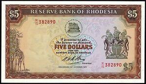 Rhodesia, 5 Dollars, 16.10.1972, Pick 32a, Unc