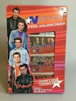 2001 BOY BAND *NSYNC 30 FOIL VALENTINES DAY CARDS & SEALS - UNOPENED PACK