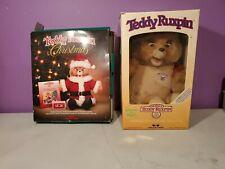 Vintage Teddy Ruxpin Teddy Bear 1985 plus Christmas