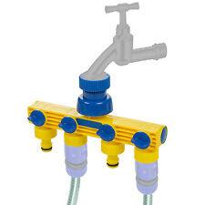 Kinzo 4 Way Garden Tap Quad Hose Pipe Connector Faucet Adapter Splitter Plastic