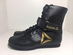 Reebok Boxing Tactical/Combat Legacy Ltd Boot CN5105 Black Gold Men's Size 9.5