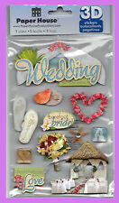 PAPER HOUSE WEDDING DAY 3D GLITTER DIMENSIONAL STICKERS