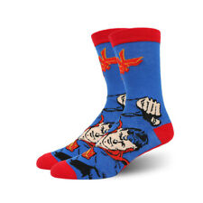1 Pairs Mens Cotton Socks MARVEL COMICS Super Hero Superman Casual Dress Socks