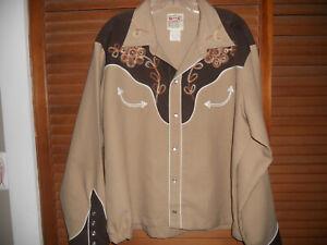 H Bar C 1970\u2019s bib western shirt