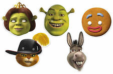 Shrek Dreamworks Variety 2D Card Face Masks 5 Pack  - Party Events Dress Up