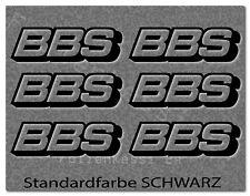 BBS 6 Aufkleber Auto Styling Tuning Felgen Logo Racing  -30 Farben- BBS003
