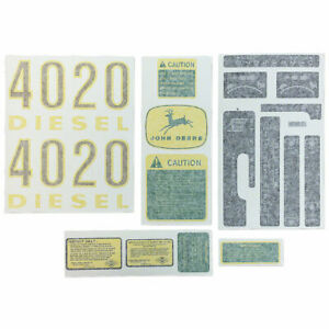 Complete Decal Set Vinyl for J D 4020 Gas or Diesel Tractor