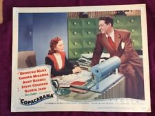 Copacabana Classic Cinema Copa Cabana ORIGINAL GROUCHO MARX MOVIE POSTER 1947