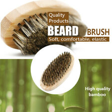 Mustache Brush  Boar Hair Military Bristle Hard Round Wood Beard Men