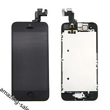 For iPhone 5S LCD Display Touch Panel Digitizer Home Button Black Assembly AMAZ