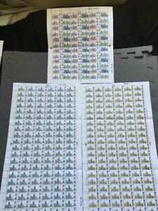 G.B 1968 British Cathedrals 3 Full Individual Sheets 316 Stamps, see description
