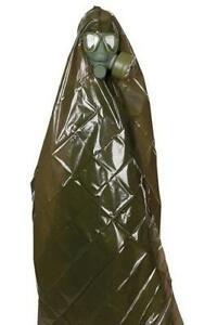 European Army Military New Surplus Chemical Suit NBC Resistant Poncho Rain
