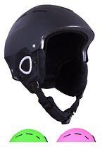 Kids Ski Helmet Black Snowboarding Helmet 56 to 59 cm Ages 10 to 16